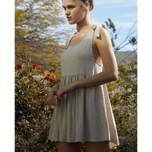 Lottie Moss by Pacsun Tie Babydoll Dress